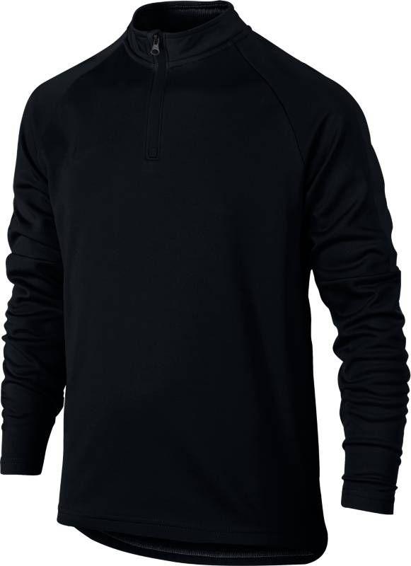 Футболка с длинным рукавом для мальчика Nike Dry Academy, цвет: черный. 839358-013. Размер XL (158/170) футболка с длинным рукавом для мальчика nike dry element цвет черный 921144 010 размер xl 158 170