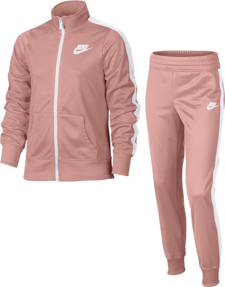 Спортивный костюм для девочки Nike Sportswear, цвет: розовый. 806395-697. Размер M (140/146)