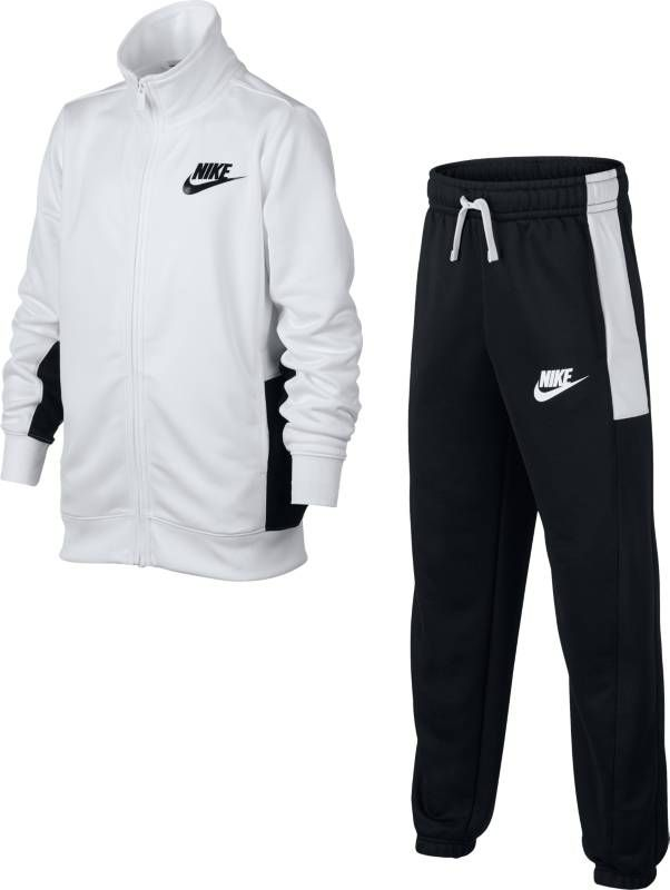 Спортивный костюм для мальчика Nike Sportswear, цвет: белый, черный. 856206-100. Размер L (146/158) костюм nike boys sportswear track suit 856206 412
