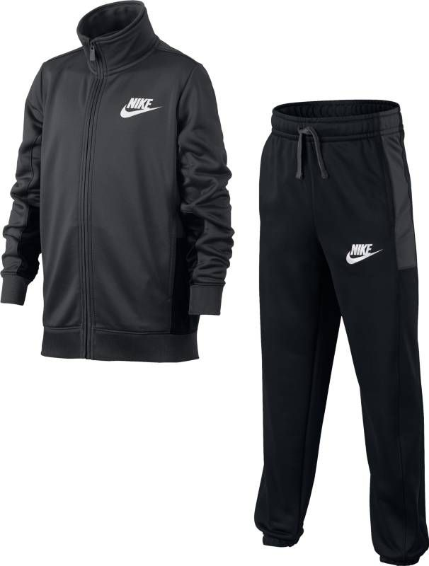 Спортивный костюм для мальчика Nike Sportswear, цвет: серый, черный. 856206-060. Размер XL (158/170) костюм nike boys sportswear track suit 856206 412