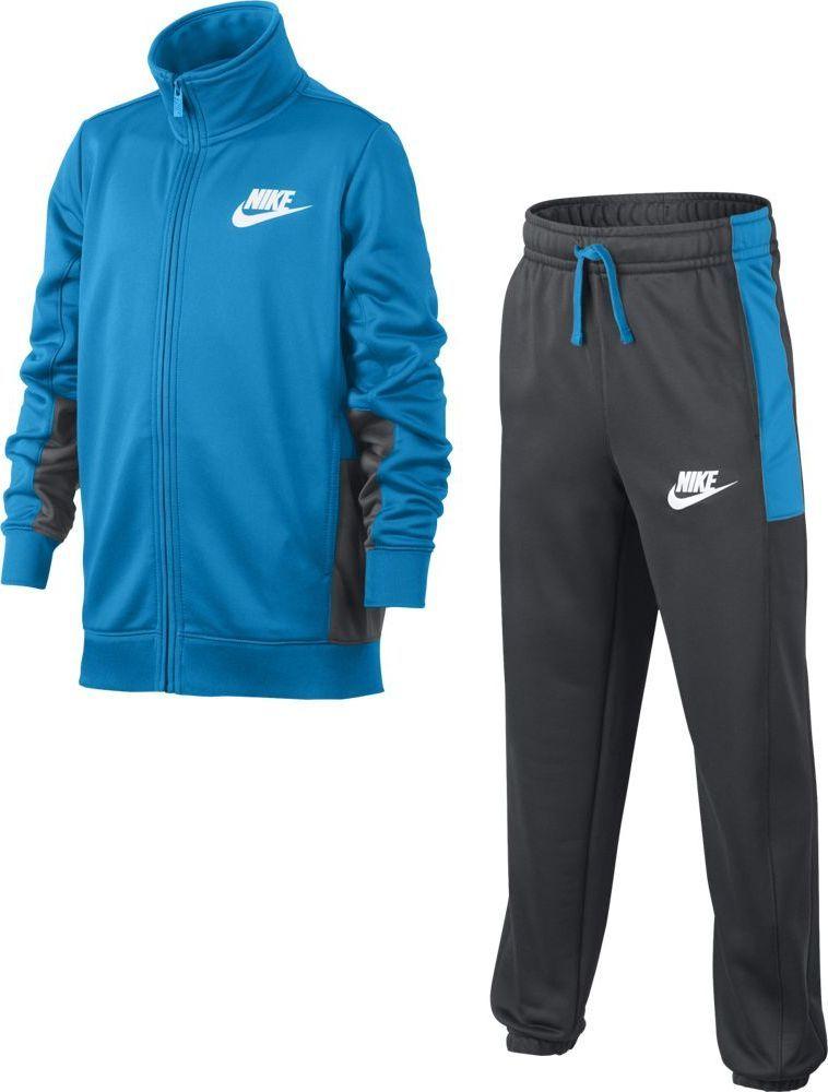 Спортивный костюм для мальчика Nike Sportswear, цвет: синий, серый. 856206-482. Размер XL (158/170) костюм nike boys sportswear track suit 856206 412