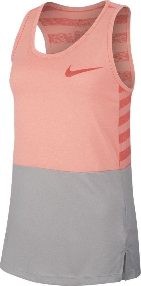 Футболка для девочки Nike Dry, цвет:  розовый, серый.  890291-693.  Размер XL (158/170) Nike