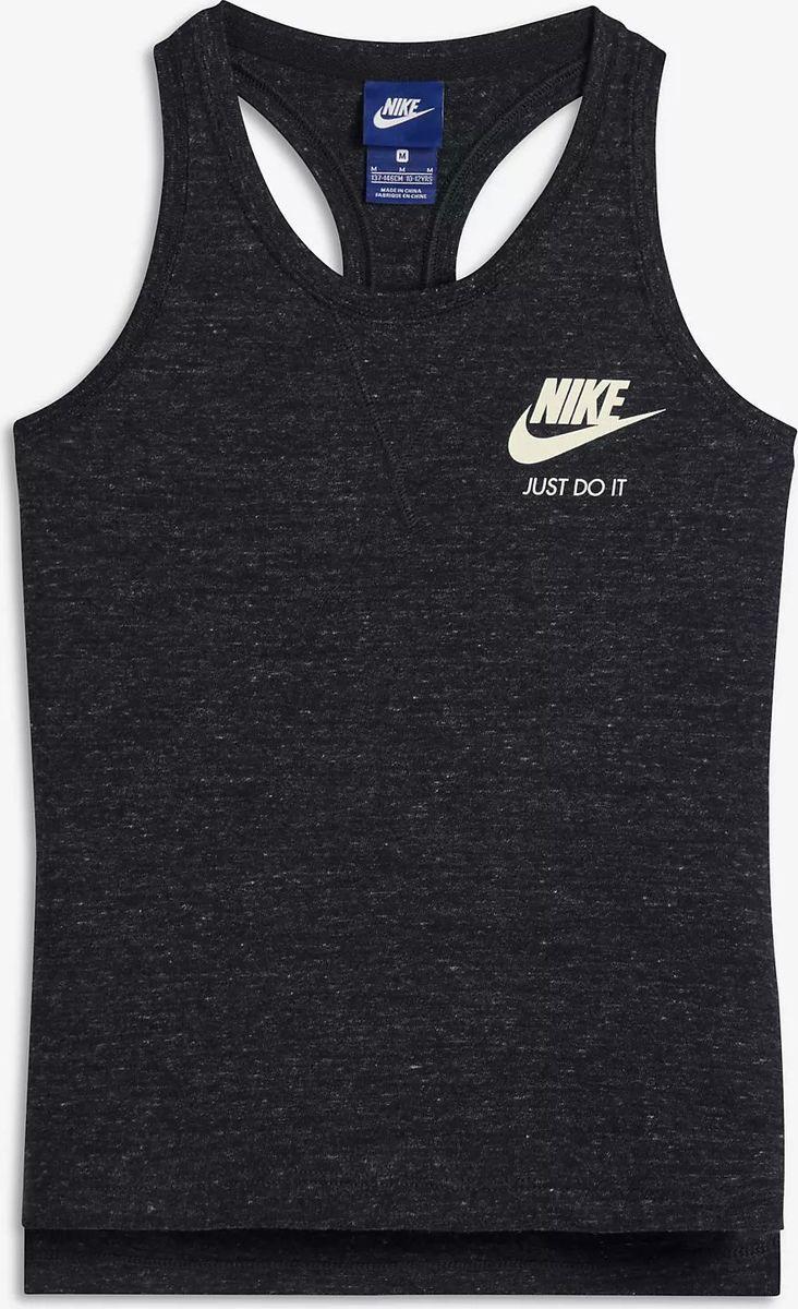 Майка для девочки Nike Sportswear, цвет: черный. 890557-010. Размер XL (158/170)
