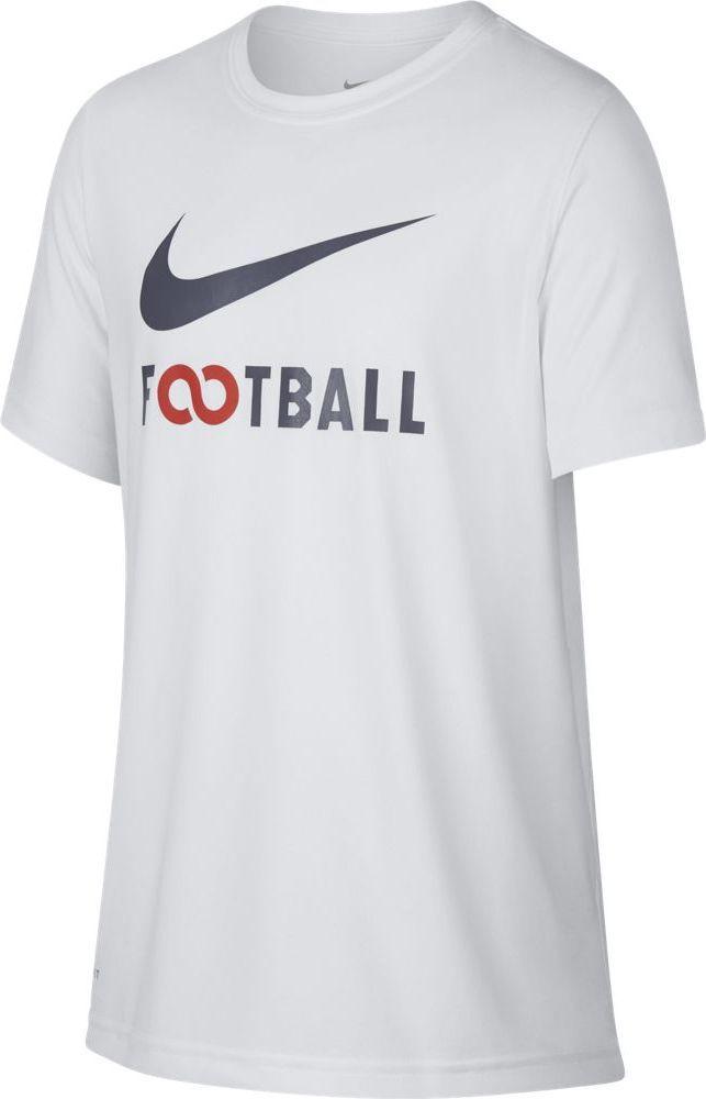 Футболка для мальчика Nike Dry, цвет: белый. 913170-100. Размер XL (158/170)