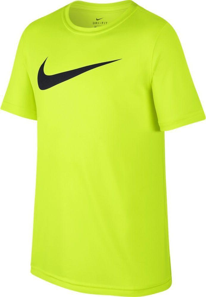Футболка для мальчика Nike Dry, цвет: желтый. 819838-704. Размер M (140/146)