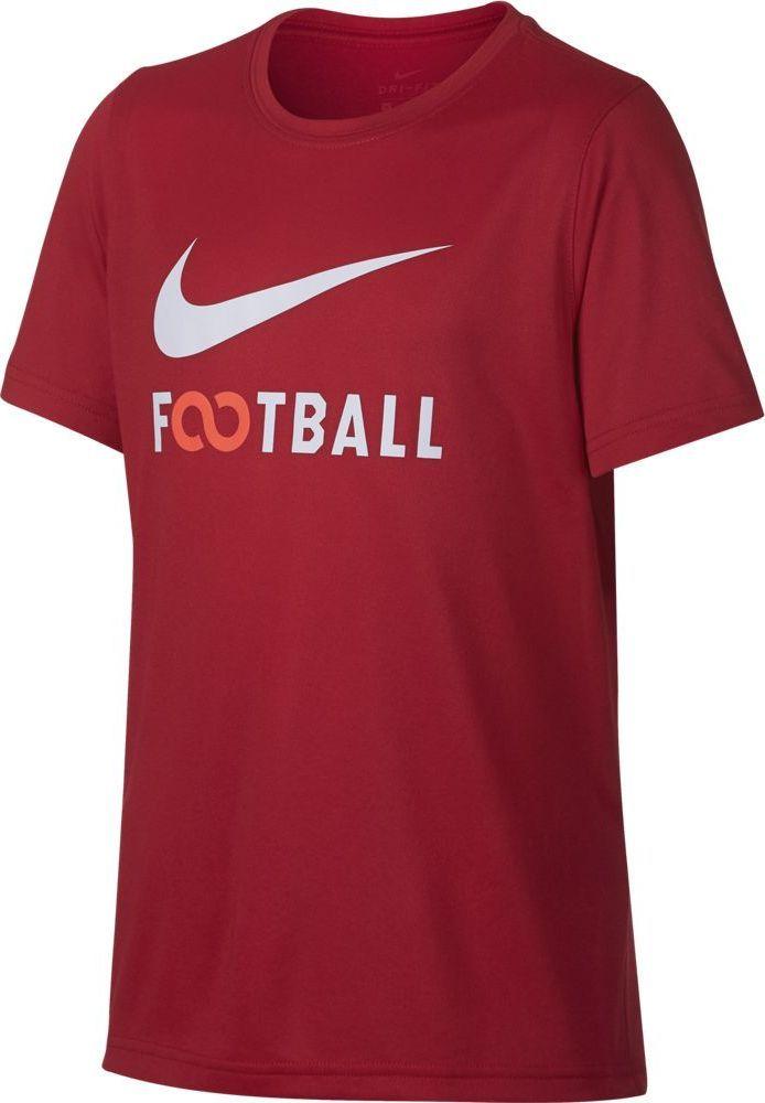 Футболка для мальчика Nike Dry, цвет: красный. 913170-657. Размер S (128/140)