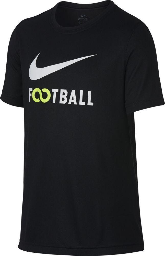 Футболка для мальчика Nike Dry, цвет: черный. 913170-010. Размер XL (158/170)
