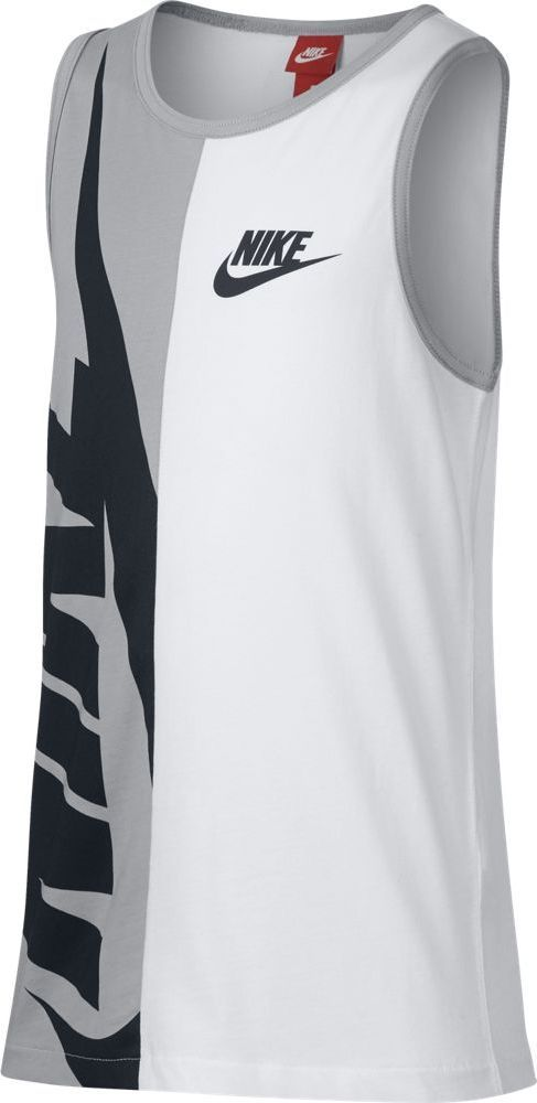 Футболка для мальчика Nike Sportswear, цвет: белый, серый. 903677-100. Размер L (146/158) футболка для мальчика umbro bradfield jersey l s цвет белый красный 60027u размер yxl 158