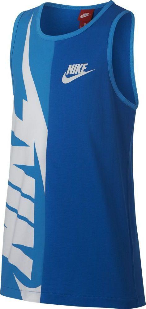 Футболка для мальчика Nike Sportswear, цвет: синий. 903677-465. Размер S (128/140)903677-465