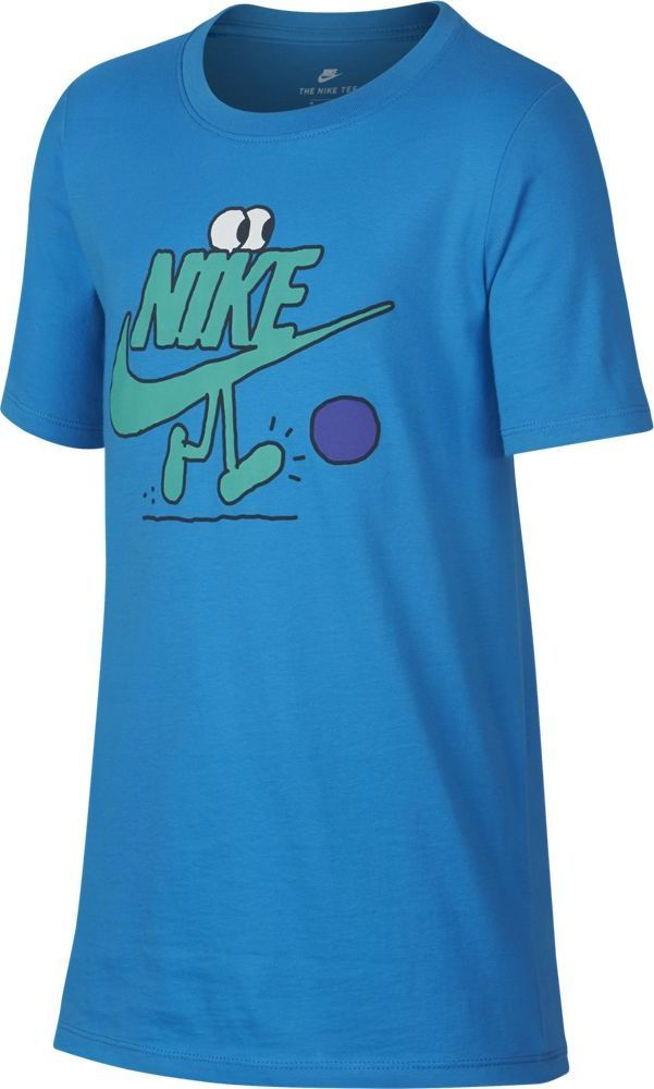 Футболка для мальчика Nike Sportswear, цвет:  синий.  913097-482.  Размер M (140/146) Nike