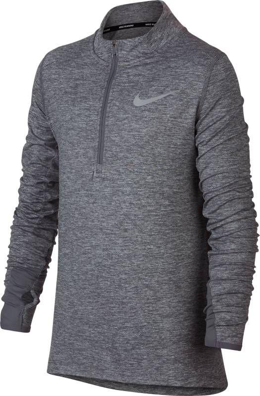 Футболка с длинным рукавом для мальчика Nike Dry Element, цвет: серый. 921144-036. Размер XL (158/170) футболка с длинным рукавом для мальчика nike dry element цвет черный 921144 010 размер xl 158 170