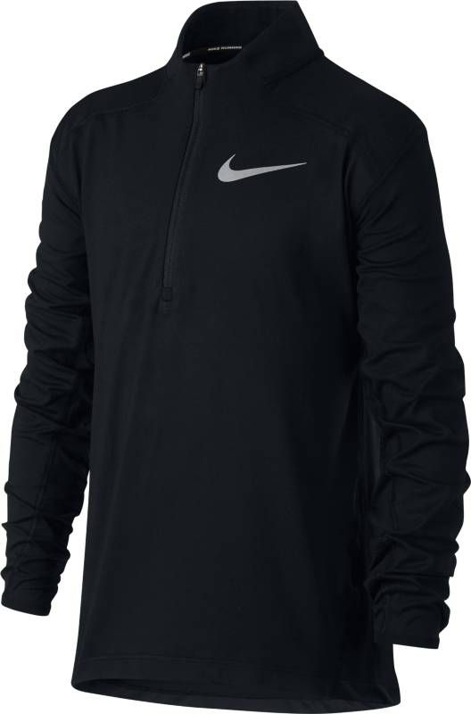 Футболка с длинным рукавом для мальчика Nike Dry Element, цвет: черный. 921144-010. Размер XL (158/170) футболка с длинным рукавом для мальчика nike dry element цвет черный 921144 010 размер xl 158 170