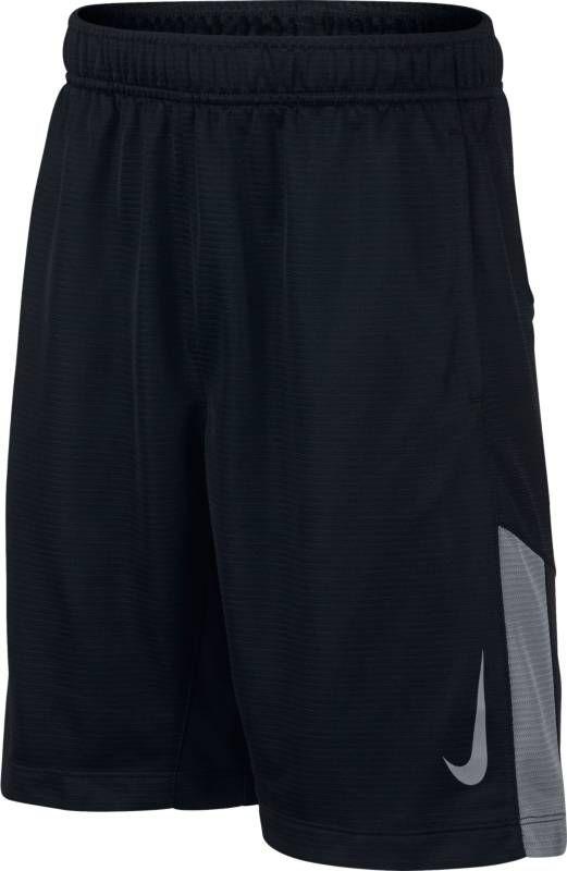 Шорты для мальчика Nike Dry, цвет: черный. 892496-010. Размер M (140/146)892496-010Тренировочные шорты для мальчика Nike Dry с технологией влагоотведения Dri-FIT и воздухопроницаемой сеткой для легкой удобной посадки идеально подходят для любых тренировок или игры. Ткань Nike Dry отводит влагу и обеспечивает комфорт. Карманы с подкладкой из сетки для удобного хранения. Эластичный пояс для надежной посадки. Вставка из сетки в нижней части штанин для вентиляции.