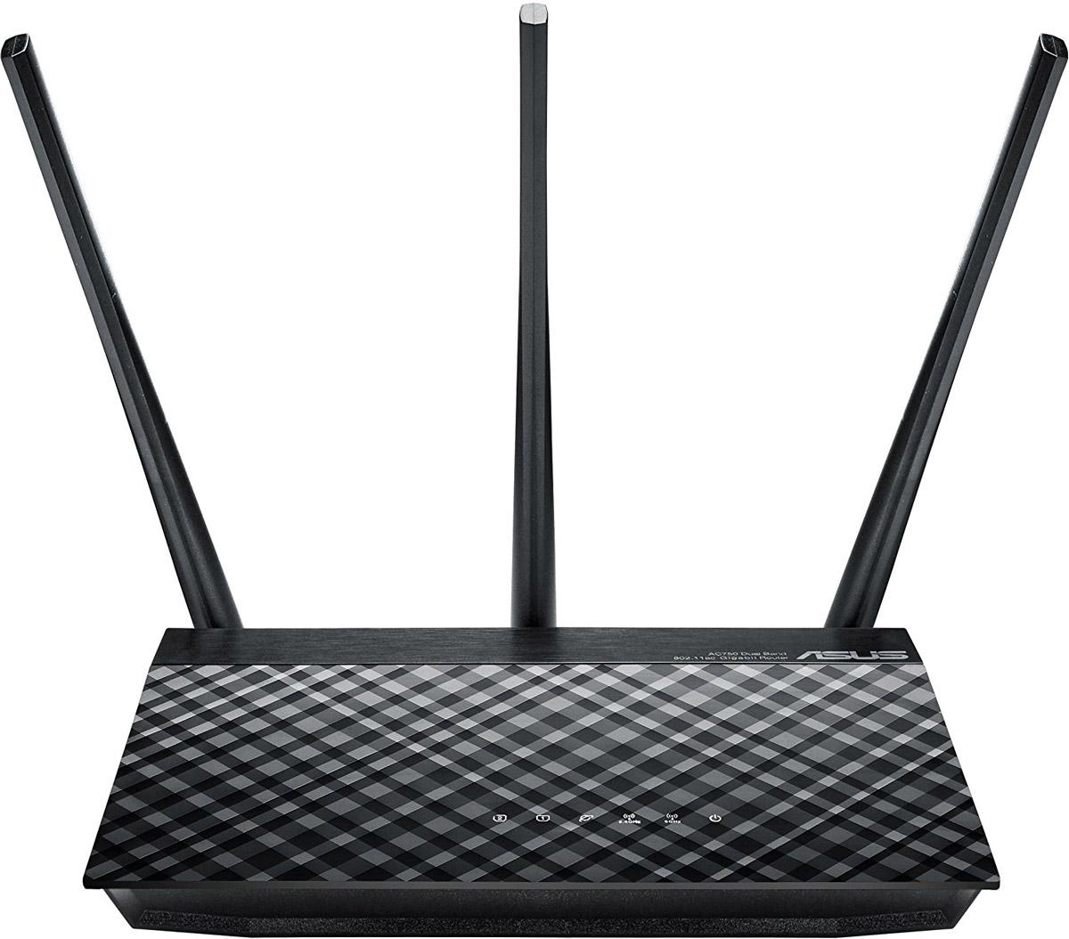 ASUS RT-AC53 маршрутизатор90IG02Z1-BM3000Двухдиапазонный маршрутизатор стандарта Wi-Fi 802.11ac. RT-AC53U – это двухдиапазонный беспроводной маршрутизатор стандарта 802.11ac, который поддерживает скорость передачи данных 433 Мбит/с в диапазоне 5 ГГц и 300 Мбит/с в диапазоне 2,4 ГГц. Он уже сейчас дает возможность всем пользователям насладиться преимуществами новой технологии, которую относят к пятому поколению беспроводных средств коммуникации. Благодаря возможности одновременной работы в двух частотных диапазонах (2,4 и 5 ГГц) со скоростью 300 Мбит/с и 433 Мбит/с, соответственно, RT-AC53 обеспечивает общую скорость передачи данных по беспроводной сети на уровне 733 Мбит/с. Высокоскоростной WAN-порт стандарта Gigabit Ethernet позволяет подключить маршрутизатор к сети провайдера на полной скорости. Помимо стандартного режима работы в качестве беспроводного маршрутизатора устройство может использоваться в режиме беспроводной точки доступа или повторителя. Выбор режима производится легко и быстро через программный интерфейс устройства. Следите за тем, чтобы на вашем устройстве была установлена актуальная прошивка. С ней вы получаете новые возможности и обеспечиваете максимальную безопасность данных в сети. Детальнее об обновлении прошивки.