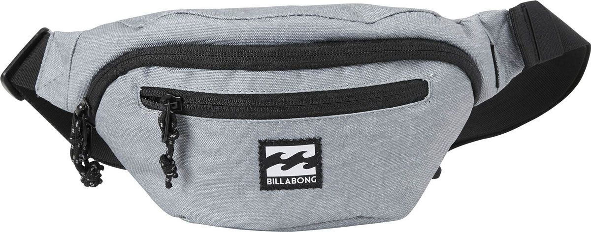Сумка поясная Billabong Java Waistpack, цвет: серый, 1,75 л
