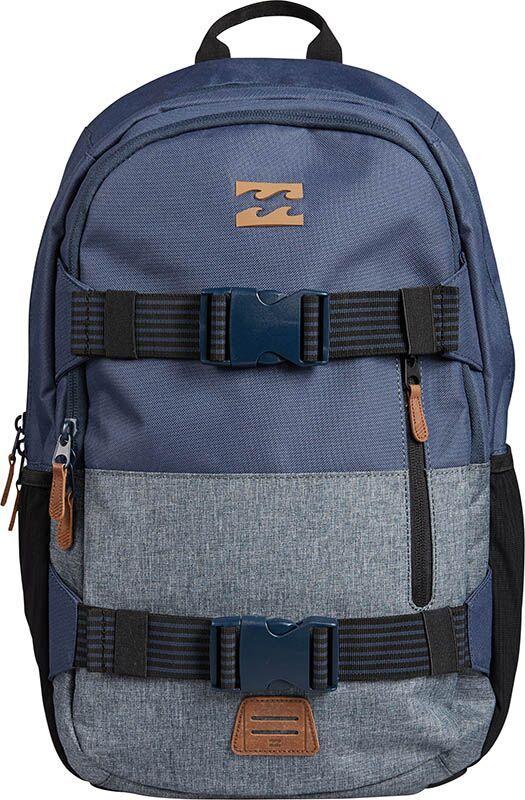 Рюкзак Billabong Command Skate Pack, цвет: темно-синий, серый, 27 л шкурка для скейтборда для скейтборда nomad hashtag griptape sheet black