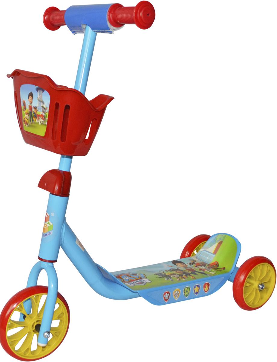 Самокат 1 Toy Щенячий патруль, 3-колесный. Т10051Т10051Самокат 1TOY Щенячий патруль c забавными персонажами из известногомультфильма. Особенности: Диаметр переднего/заднего колеса: 6/5 Размер самоката: 60 х 11 х 73 см Масса самоката: 2,1 кг Максимальная нагрузка: 20 кг Для детей от 3 лет Материал: сталь Материал колес: ПВХ Корзина.