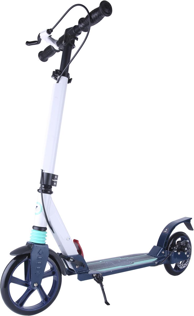 Самокат 1 Toy TopGear, 2-колесный. Т11408Т11408Самокат TopGear подходит для детей и взрослых от 5 до 14 лет. Платформа,рама и руль самоката выполнены из лёгкого алюминиевого сплава. Узелскладывания сделан из алюминия и безопасного пластика. Регулируемый руль(до 77 см), имеет три уровня фиксации. Полиуретановые колеса легко ибыстро крутятся, что обеспечивает хорошую управляемость и скоростьсамоката. Диаметр колес 200 мм, жесткость 82А, подшипники ABEC-7.Платформа для ног с не скользящим покрытием и яркой наклейкой, ширинаплатформы - 13 см. Максимальная нагрузка на самокат 100 кг. Самокатоснащен передним и задним амортизатором, а также ручным дисковымтормозом.Изображения товара, включая цвет, могут немного отличаться от реальноговнешнего вида. Комплектация также может быть изменена производителембез предварительного уведомления. Описание не является публичнойофертой. Убедительно просим вас при выборе модели проверять наличиежелаемых функций и характеристик. Д Материал: алюминий Размер самоката (см): 94 х 13 х 100(77) Масса самоката (кг): 5,8 Индивидуальная цветная упаковка Материал колес: полиуретан Передний амортизатор Задний амортизатор Ручной дисковый тормоз Складные резиновые ручки Подножка Тормоз.