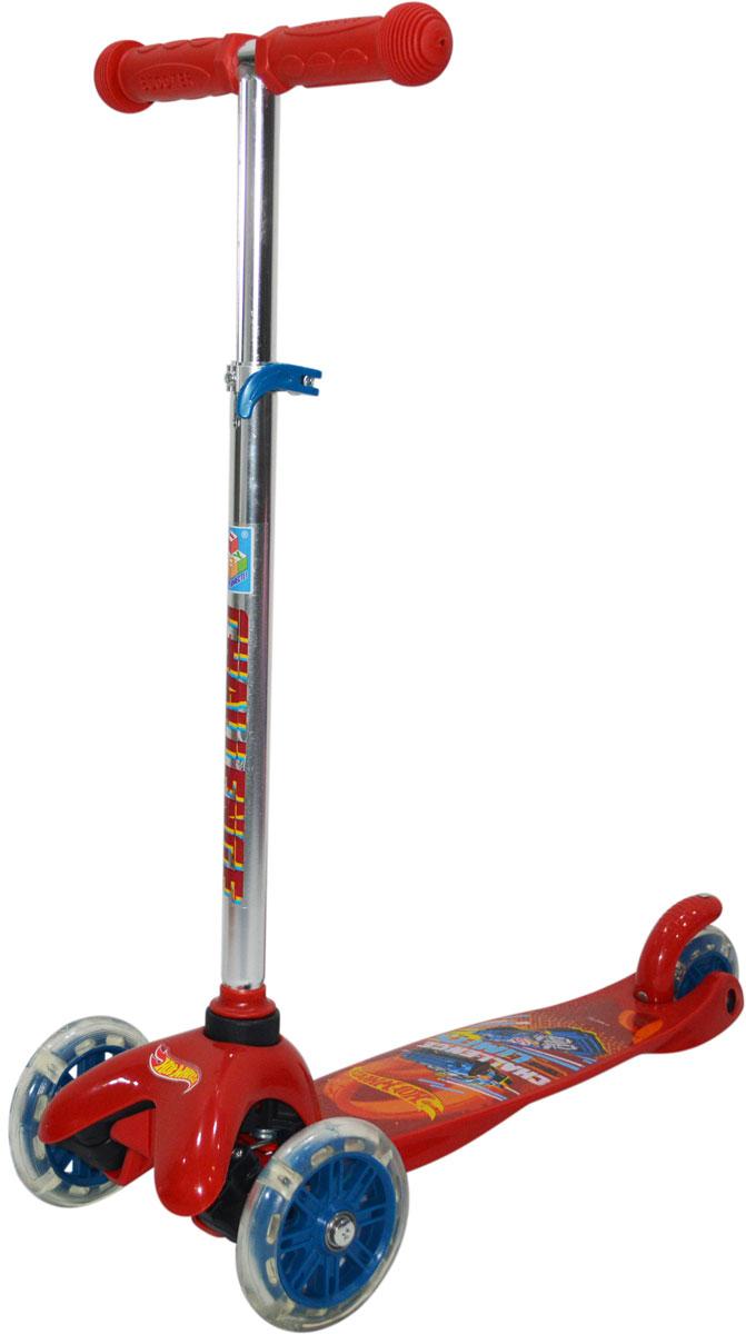 """Самокат 1 Toy """"Hot Wheels"""", 3-колесный. Т11417, 1TOY"""