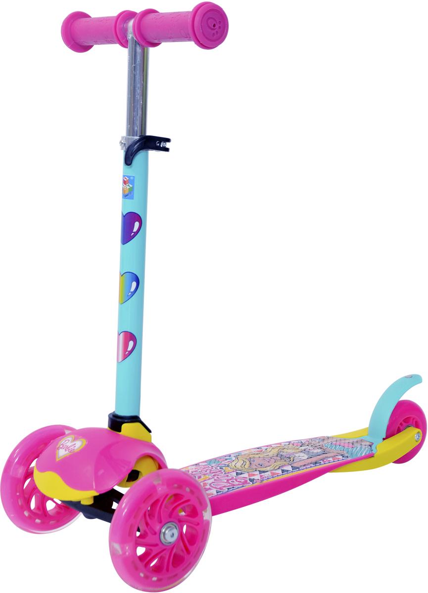 """Самокат 1 Toy """"Barbie"""", 3-колесный. Т11423, 1TOY"""