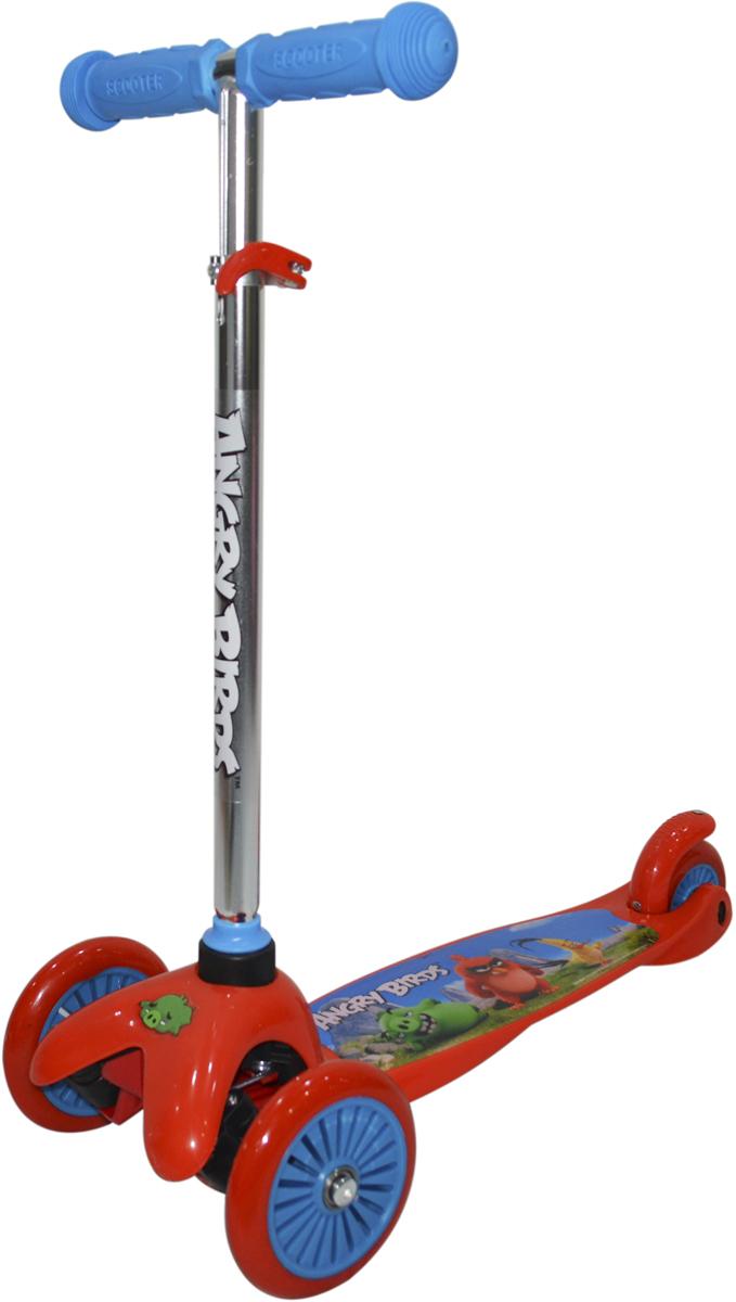 Самокат 1 Toy Angry Birds, 2-колесный. Т11697Т11697Самокат трёхколёсный 1TOY подходит для детей от 3 до 8 лет. Платформа, рама выполнены из прочного материала нейлон, руль самоката выполнен из лёгкого алюминиевого сплава. Регулируемый руль (до 62 см), имеет три уровня фиксации. Диаметр передних колес 125 мм, заднего 100 мм. Платформа для ног с не скользящим покрытием и яркой наклейкой, ширина платформы 11 см. Максимальная нагрузка на Самокат трёхколёсный 1TOY - 30 кг.Изображения товара, включая цвет, могут немного отличаться от реального внешнего вида. Комплектация также может быть изменена производителем без предварительного уведомления. Описание не является публичной офертой. Убедительно просим вас при выборе модели проверять наличие желаемых функций и характеристик. Диаметр переднего/заднего колеса: 2х115/90 ммМатериал: алюминий, нейлон.Размер самоката (см): 56,5 х 12 х 81(72).Масса самоката (кг): 1,9.Индивидуальная цветная упаковка.Материал колес - полиуретан.Тормоз. Как выбрать самокат для ребёнка – статья на OZON Гид.