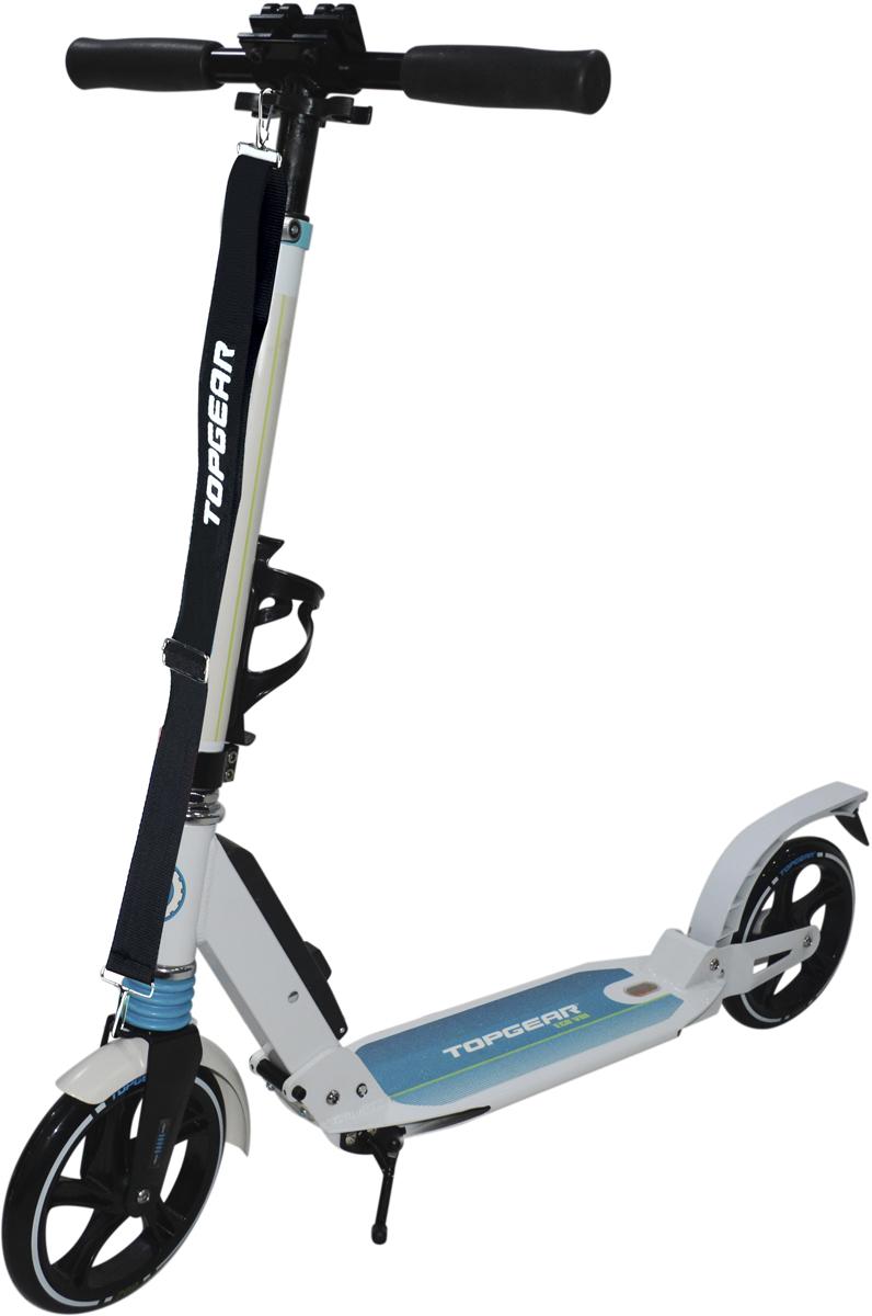 Самокат 1 Toy TopGear, 3-колесный. Т11784Т11784самокат подходит для детей от 5 до 14 лет. Платформа, рама и руль самоката выполнены из лёгкого алюминиевого сплава. Удобный узел складывания кнопочного типа сделан из алюминия и безопасного пластика. Регулируемый руль (до 84 см), имеет три уровня фиксации. Полиуретановые колеса легко и быстро крутятся, что обеспечивает хорошую управляемость и скорость самоката. Диаметр колес 200 мм, жесткость 82А, подшипники ABEC-7. Платформа для ног с не скользящим покрытием и яркой наклейкой, ширина платформы - 13 см. Максимальная нагрузка на самокат 100 кг. Изображения товара, включая цвет, могут немного отличаться от реального внешнего вида. Комплектация также может быть изменена производителем без предварительного уведомления. Описание не является публичной офертой. Убедительно просим Вас при выборе модели проверять наличие желаемых функций и характеристик. Диаметр переднего/заднего колеса: 200/200 мм Материал: алюминий Размер самоката (см): 95*13*99(84) Масса самоката (кг): 5,4 Индивидуальная цветная упаковка Материал колес: полиуретан Передний амортизатор Задний амортизатор Складные резиновые ручки Новый механизм складывания кнопочного типа Ремень Подножка Тормоз