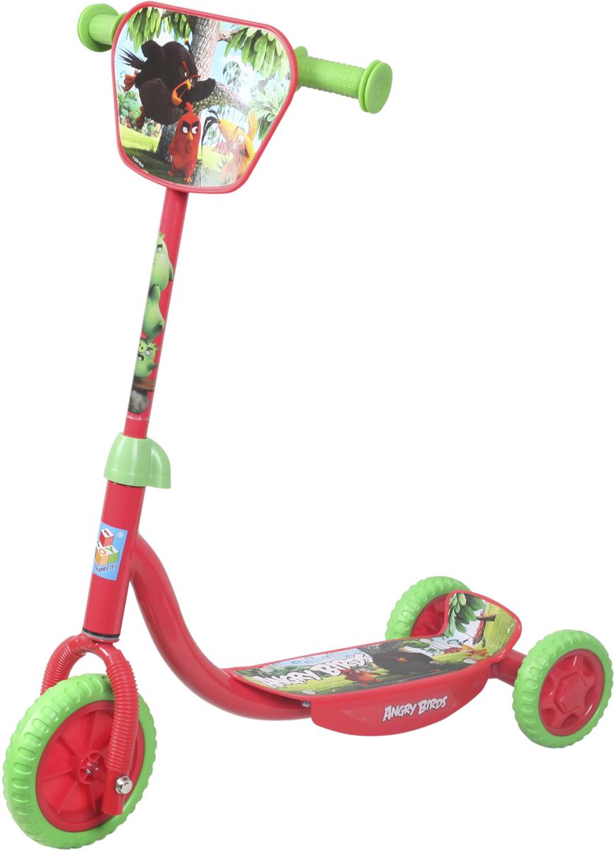 Самокат 1 Toy Angry Birds, 2-колесный. Т56808Т56808Трехколесный самокат 1TOY Angry Birds с любимыми персонажами Диаметр переднего/заднего колеса: 6/4 Размер самоката (см): 60х11х73 Масса самоката (кг): 2,1 Максимальная нагрузка: 20 кг Для детей от 3 лет Материал: сталь Индивидуальная цветная упаковка Материал колес: EVA (вспененная резина) Декоративная панель