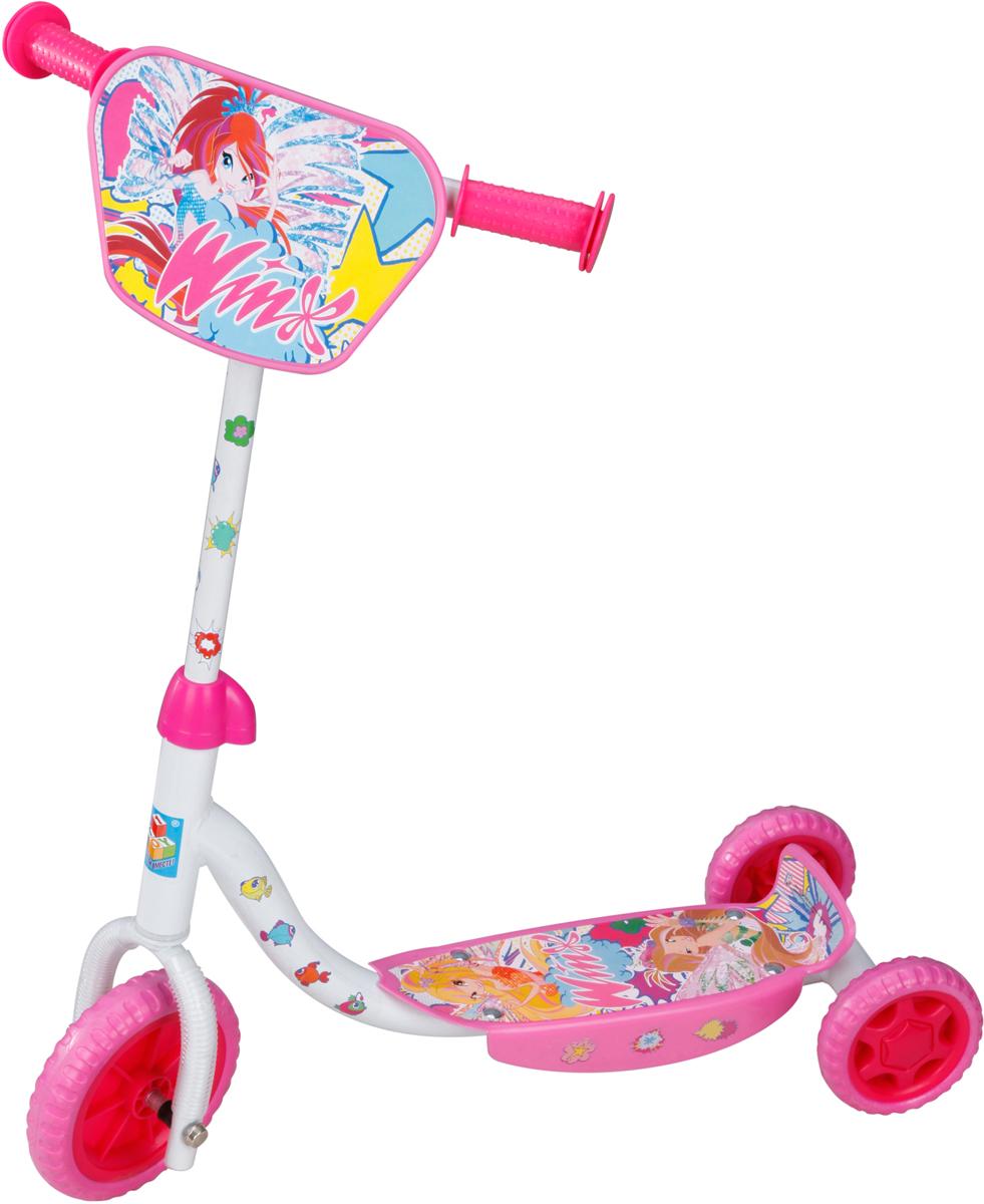 1TOY Самокат детский трехколесный Winx цвет розовый белый, Solmar Pte Ltd