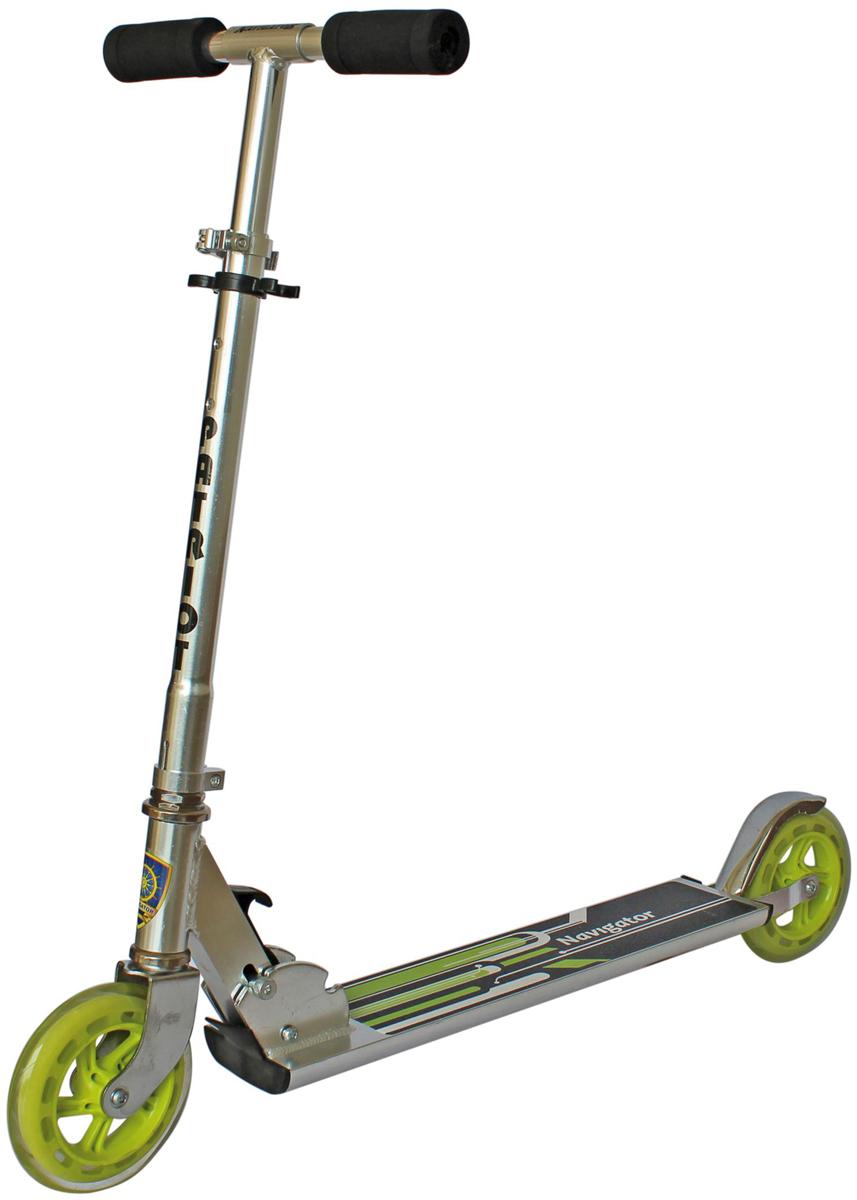 Самокат 1 Toy Navigator, 2-колесный. Т56872Т56872Самокат Navigator обладает превосходными ходовыми качествами и надежностью.Диаметр переднего/заднего колеса: 150 мм,Материал: алюминий Размер самоката (см): 85 х 11 х 100 Масса самоката: 2,5 кг Грузоподъемность (кг): 100 Индивидуальная цветная упаковка Материал колес: полиуретан.
