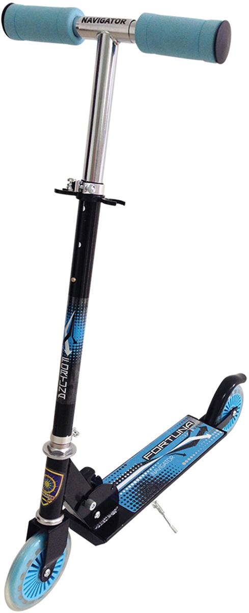 Самокат 1 Toy Navigator, 2-колесный. Т57570Т57570Самокат Navigator подходит для детей от 3 до 8 лет.Диаметр переднего/заднего колеса: 120 мм Материал: алюминий/сталь Размер самоката (см): 62 х 9,5х 83 Масса самоката (кг): 2,5 Грузоподъемность (кг): 70 Индивидуальная цветная упаковка Материал колес: ПВХ Тормоз.