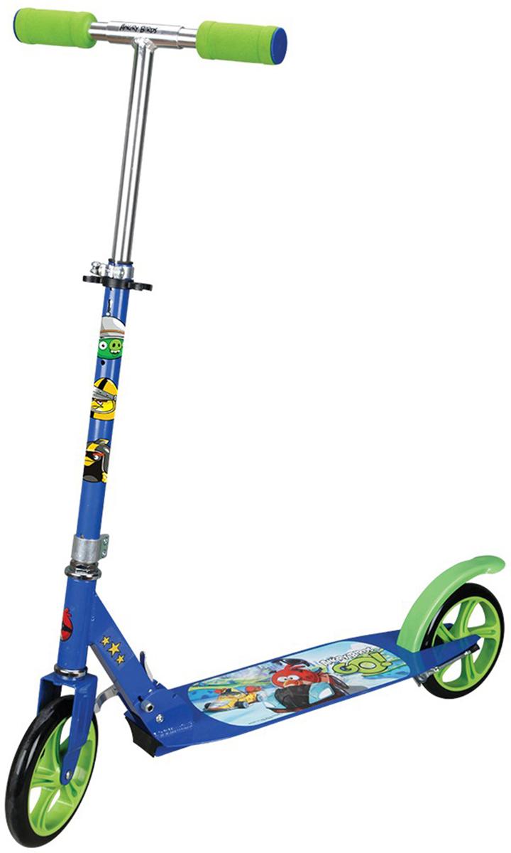 Navigator Самокат детский двухколесный Angry Birds Go цвет синий зеленый велосипед двухколесный navigator angry birds 14 2017