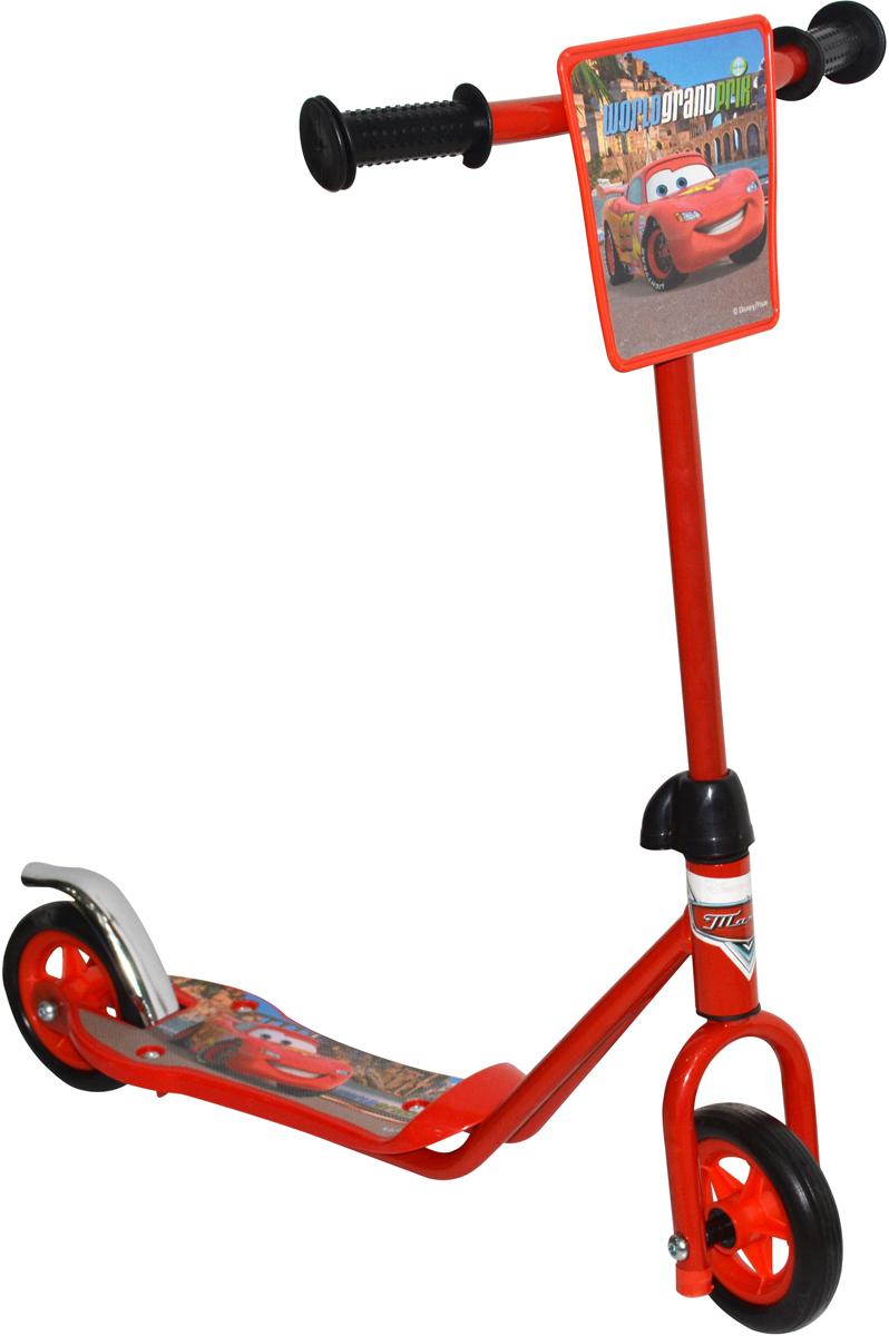 Самокат 1 Toy Disney. Тачки, 2-колесный. Т58412Т58412Самокат двухколесный 1 Toy с изображением самой известной гоночной машины среди детской аудитории - Молнии МакКуина из мультфильма Тачки.Диаметр переднего/заднего колеса: 110 ммМатериал: сталь Размер самоката (см): 63 х 12 х 64 Масса самоката (кг): 1,5 Индивидуальная цветная упаковка Материал колес: EVA (вспененная резина) Декоративная панель Тормоз.