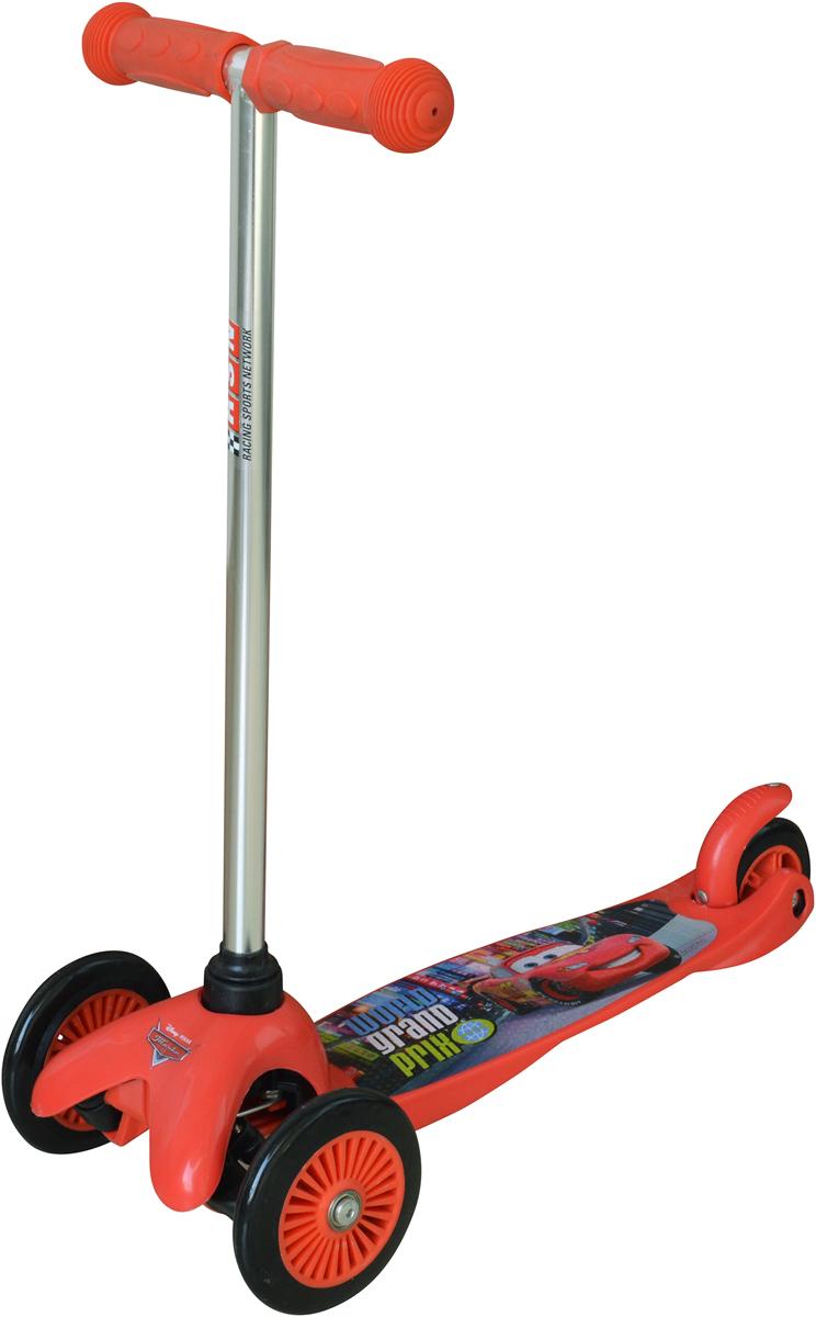 Самокат детский 1 Toy Тачки, 3-колесный, цвет: красный. Т58415