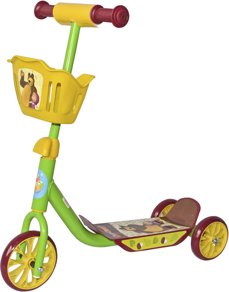 Самокат 1 Toy Маша и Медведь, 2-колесный. Т59539Т59539Самокат 1TOY Маша и Медведь с красочными персонажами из мультфильма Диаметр переднего/заднего колеса: 6/5 Размер самоката (см): 60х11х73 Масса самоката (кг): 2,1 Максимальная нагрузка: 20 кг Для детей от 3 лет Материал: сталь Индивидуальная цветная упаковка Материал колес: ПВХ Корзина