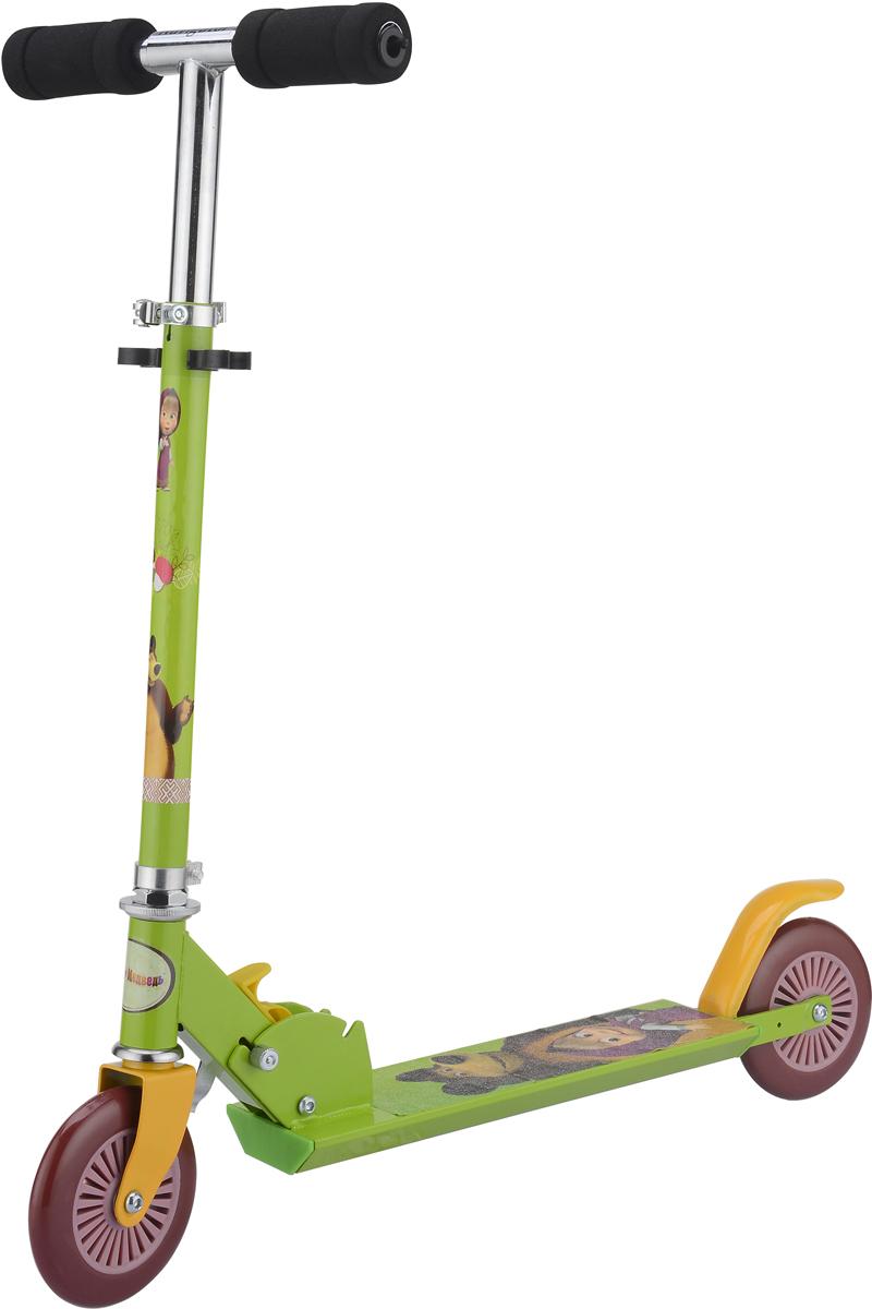 Самокат 1 Toy Navigator, 2-колесный. Т59558Т59558Самокат 1Toy с красочными персонажами из мультфильма Маша и Медведь.Диаметр переднего/заднего колеса: 120 мм Материал: алюминий/сталь Размер самоката (см): 62 х 9,5 х 83 Масса самоката (кг): 2,5 Индивидуальная цветная упаковка Материал колес: ПВХ Тормоз.