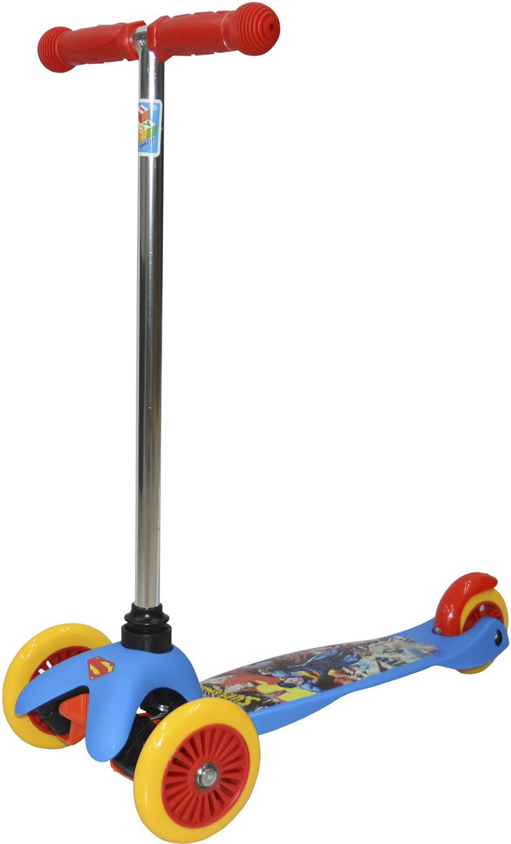 """Самокат детский 1 Toy """"Супермэн"""", 3-колесный, цвет: синий. Т59561, 1TOY"""