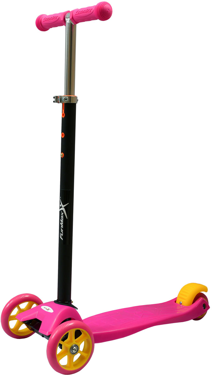 Самокат 1 Toy FunMax, 2-колесный. Т59566Т59566самокат подходит для детей от 3 до 8 лет. Платформа, рама выполнена пластика, руль самоката выполнен из стали. Регулируемый руль (до 56 см), имеет три уровня фиксации. Диаметр передних колес 2х120 мм, задних 80 мм. Платформа для ног с не скользящим покрытием и яркой наклейкой. Ширина платформы: 13,5 см. Максимальная нагрузка на самокат 25 кг.Изображения товара, включая цвет, могут отличаться от реального внешнего вида. Комплектация также может быть изменена производителем без предварительного уведомления. Описание не является публичной офертой. Убедительно просим Вас при выборе модели проверять наличие желаемых функций и характеристик. Диаметр переднего/заднего колеса: 2х110/2х80 мм Материал: сталь, пластик Размер самоката (см): 58х13,5х80(56) Масса самоката (кг): 1,8 Индивидуальная цветная упаковка Материал колес: PVC Ручки: резина Тормоз