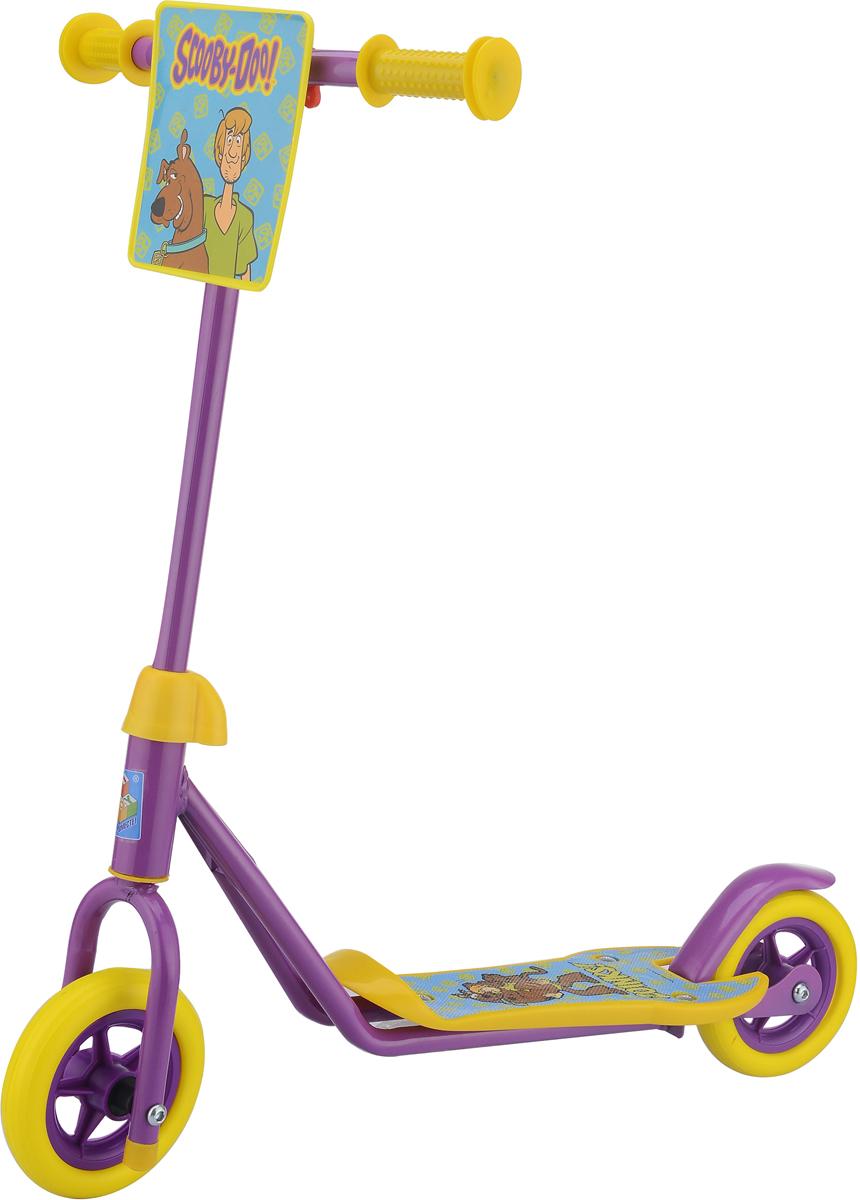 Самокат 1 Toy Скуби Ду, 3-колесный. Т59570Т59570Самокат 1TOY Скуби-Ду Диаметр переднего/заднего колеса: 110 мм Размер самоката (см): 63х12х64 Масса самоката (кг): 1,5 Максимальная нагрузка: 20 кг Для детей от 3 лет Материал: сталь Индивидуальная цветная упаковка Материал колес: EVA (вспененная резина) Декоративная панель Тормоз