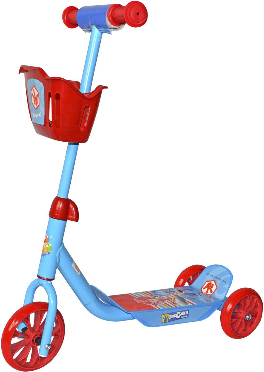 Самокат 1 Toy Фиксики, 3-колесный. Т59571Т59571Самокат 1TOY Фиксики с персонажами из любимого мультфильма. Особенности:Диаметр переднего/заднего колеса: 6/5 Размер самоката: 60 х 11 х 73 см Масса самоката: 2,1 кг Максимальная нагрузка: 20 кг Для детей от 3 лет Материал: сталь Материал колес: ПВХ Корзина.