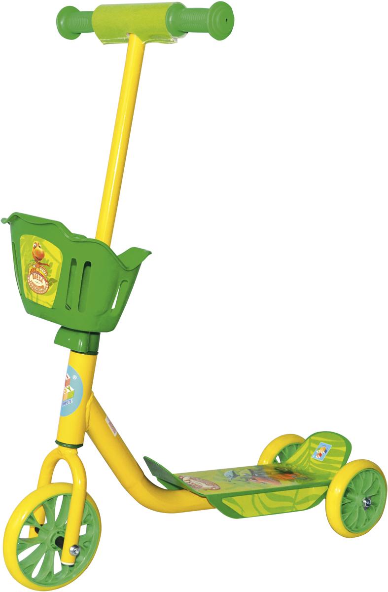 Самокат 1 Toy Поезд Динозавров, 2-колесный. Т59572Т59572Самокат 1TOY Поезд Динозавров с персонажами из мультфильма Диаметр переднего/заднего колеса: 6/5 Размер самоката (см): 60х11х73 Масса самоката (кг): 2,1 Максимальная нагрузка: 20 кг Для детей от 3 лет Материал: сталь Индивидуальная цветная упаковка Материал колес: ПВХ Корзина