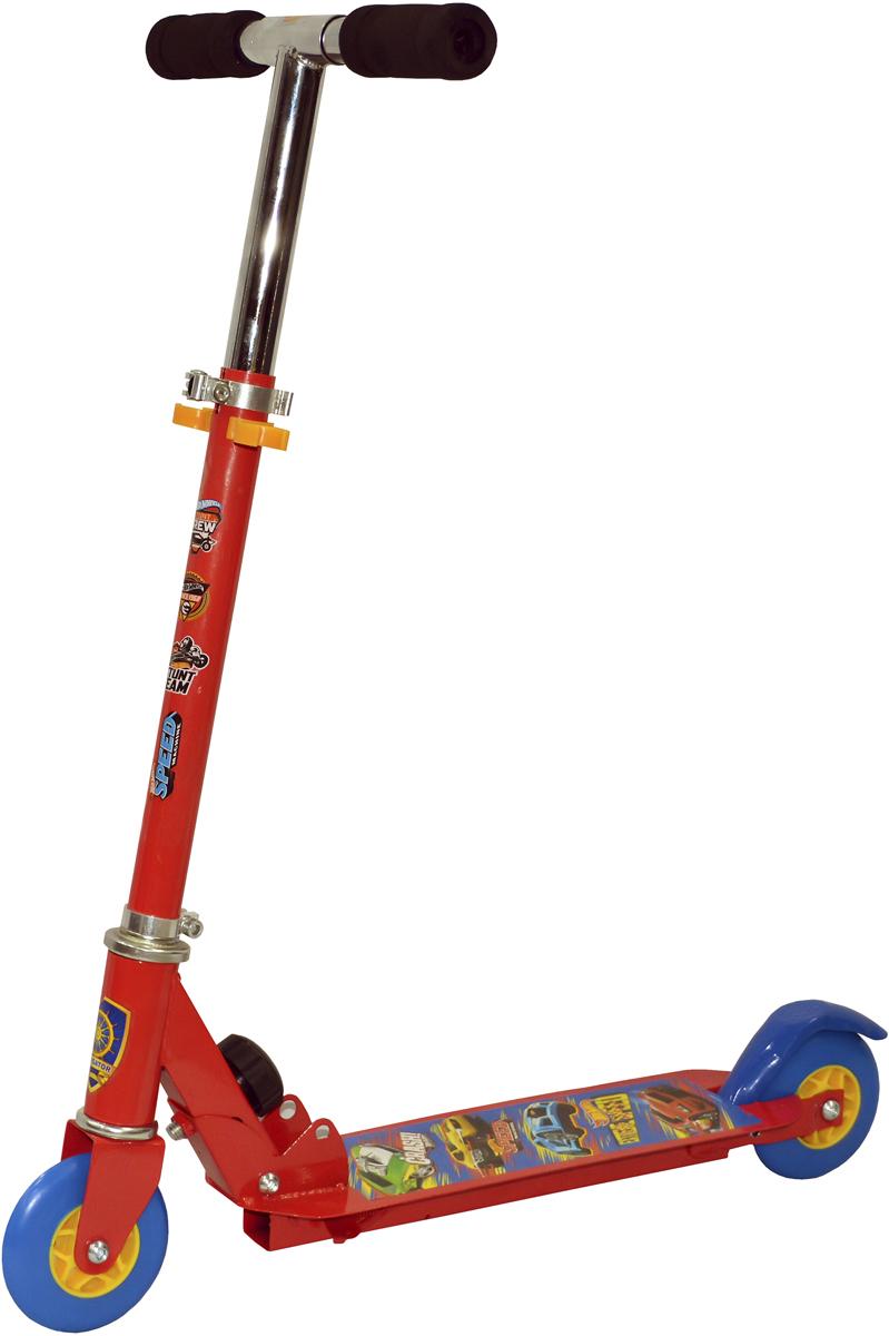 Самокат 1 Toy Navigator, 2-колесный. Т59573Т59573Самокат Navigator для настоящих маленьких гонщиков.Диаметр переднего/заднего колеса: 100 мм Материал: сталь Размер самоката (см): 56 х 9 х 76 Масса самоката (кг): 2,00 Индивидуальная цветная упаковка Материал колес: ПВХ Тормоз.