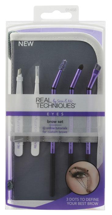 Real Techniques Набор кистей для бровей Brow Brush SetRT103Профессиональный набор для оформления бровей, для качественной коррекции формы, построения, а также заполнения бровей. Набор кистей для бровей Brow Brush Set от известной фирмы Real Techniques позволяет структурировать и создавать идеальные брови.