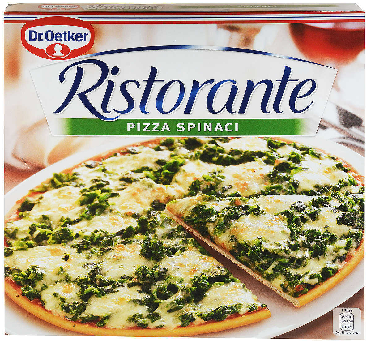 Dr.Oetker Пицца Ristorante Шпинат, 390 г молочная смесь friso фрисолак 2 с 6 мес 700 гр