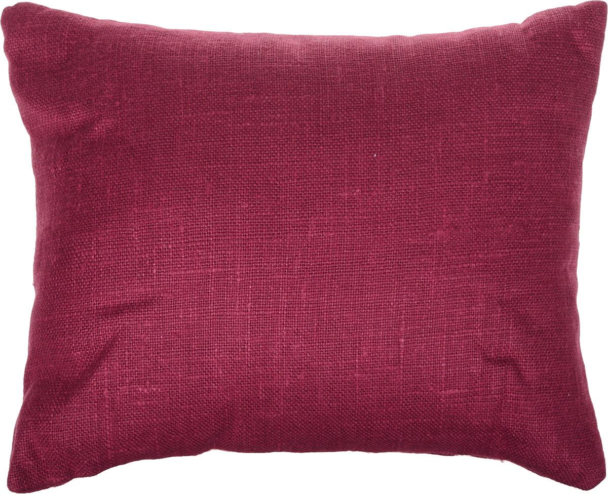 Подушка ортопедическая Эко. Классик, цвет: красный, 40 х 30 см8красПодушка очень удобна как для сна, поскольку имеет класическую форму, так и для выполнения сидячих поз йоги. Наволочка съемная, изготовлена из 100% льна.