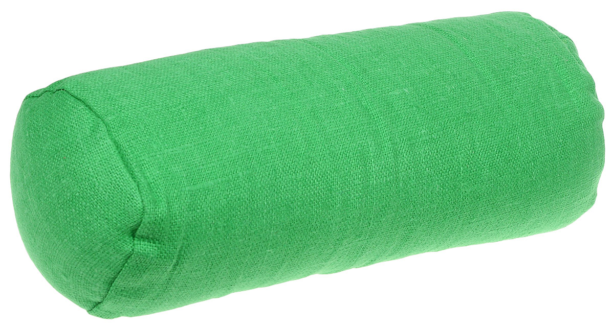 Подушка ортопедическая Эко. Валик, цвет: зеленый, 40 х 15 см7зелНаполнителем этих уникальных, по своим свойствам,подушек является экологически чистая лузга гречихи, помещенная в чехол из х/б ткани и наволочку из 100% льна которая не скользит. Есть молния для снятия наволочки и ручка для переноса.