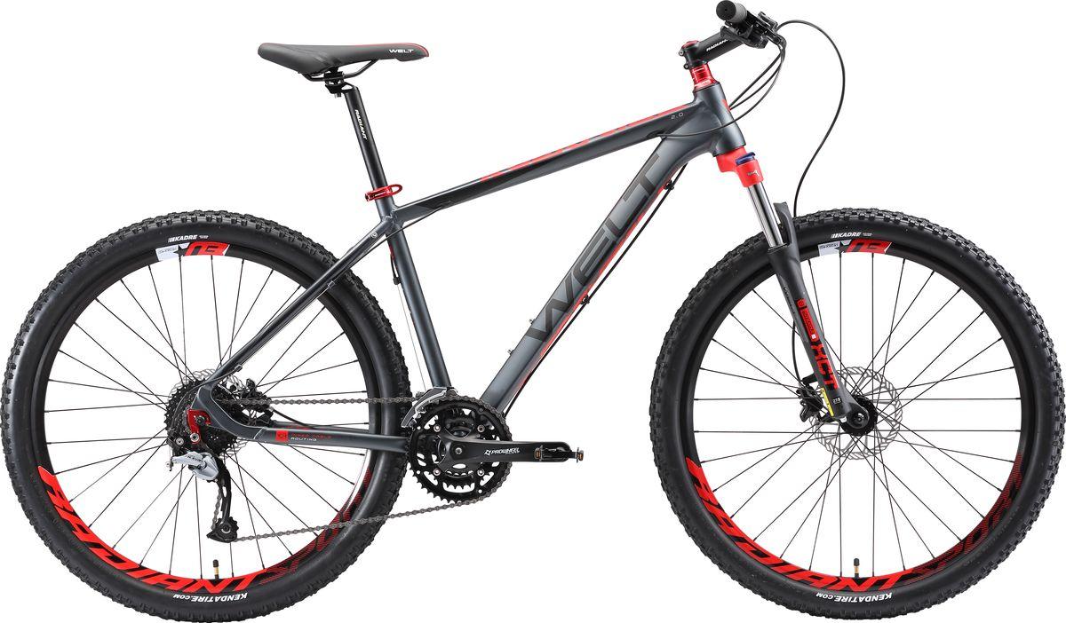 Велосипед горный Welt  2018 Rockfall 2.0 matt , цвет: серый, красный, рама M, колесо 27  - Велоспорт