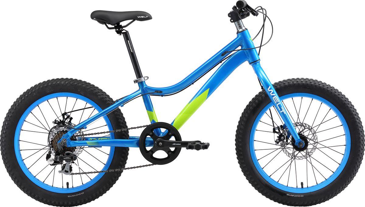 Велосипед детский Welt 2018 FAT Freedom, цвет: синий, зеленый, колесо 20