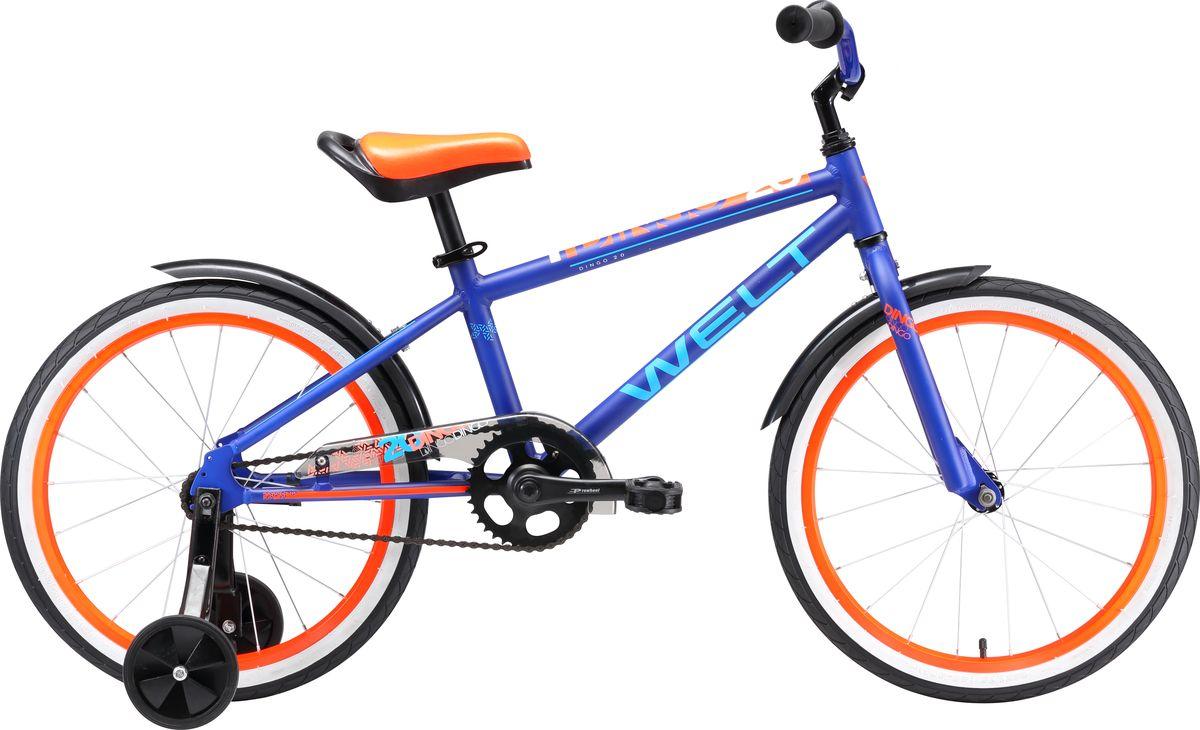 Велосипед детский Welt  2018 Dingo , цвет: темно-синий, оранжевый, колесо 20  - Велоспорт