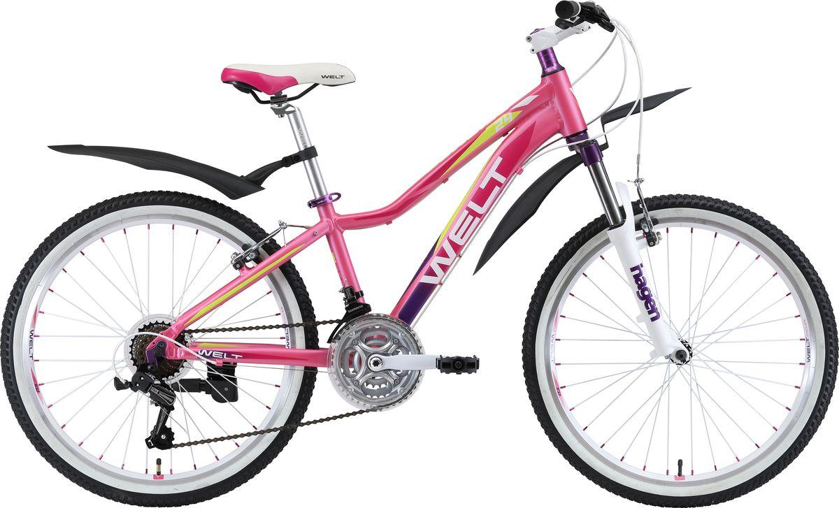 Велосипед детский Welt  2018 Edelweiss matt , цвет: розовый, фиолетовый, белый, колесо 24  - Детские велосипеды