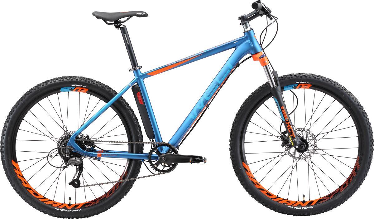 Велосипед горный Welt 2018 Rockfall AT matt, цвет: синий, оранжевый, рама M, колесо 27